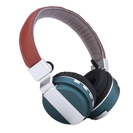 Wkae Kanen BT008 Bluetooth inalámbrico auriculares estéreo HIFI Metal Auriculares con micrófono Tarjeta TF Micor SD