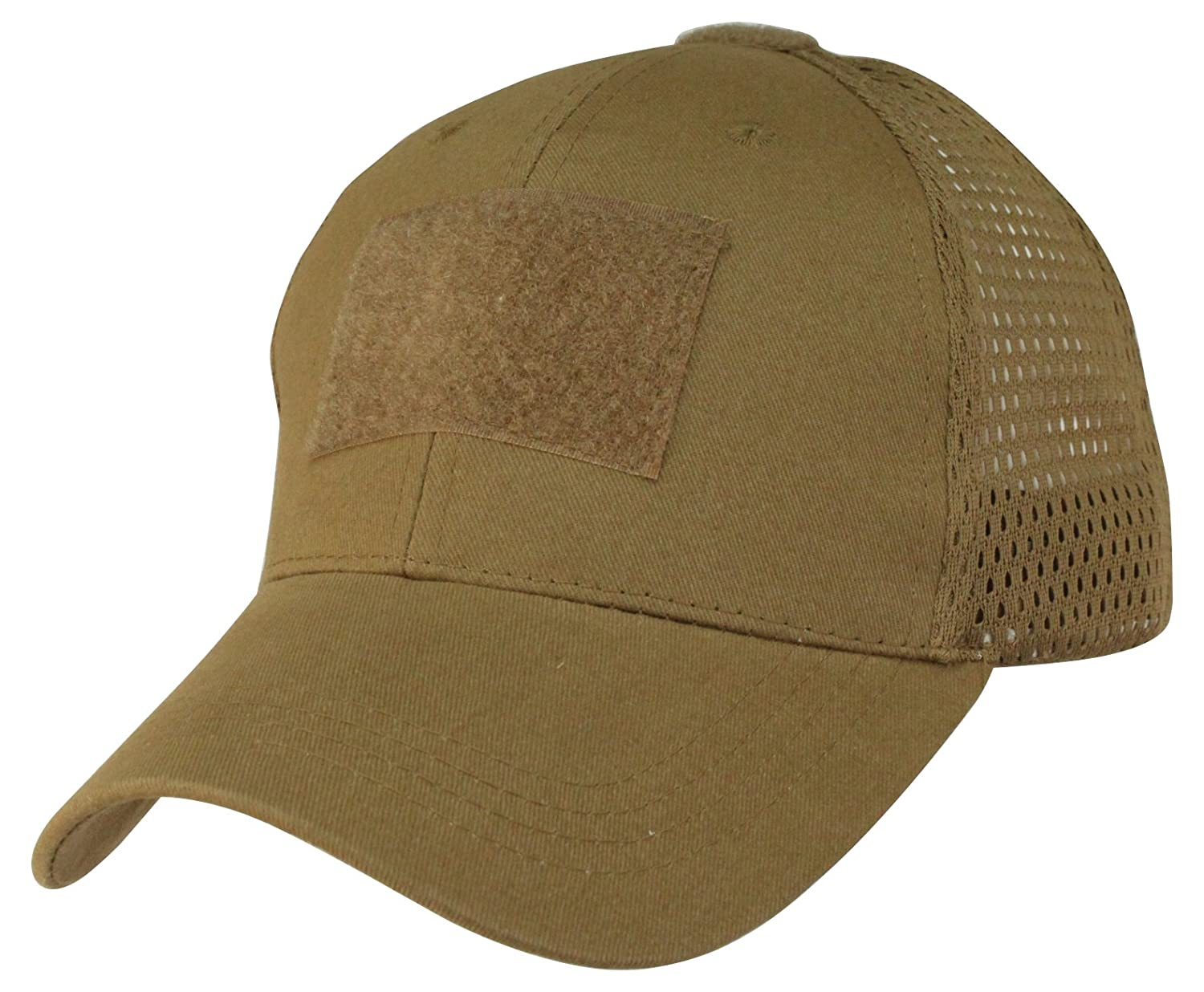 b52bbbba9a3 Amazon.com  Eagle Crest Mesh Back Coyote Brown Operator Cap  Clothing