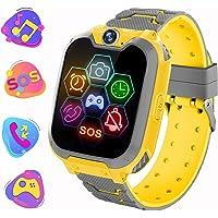 Reloj Inteligente para Niños de Pantalla Táctil con Juego de Música - Smartwatch para Niños Niña 3-12 Años (Tarjeta SD…