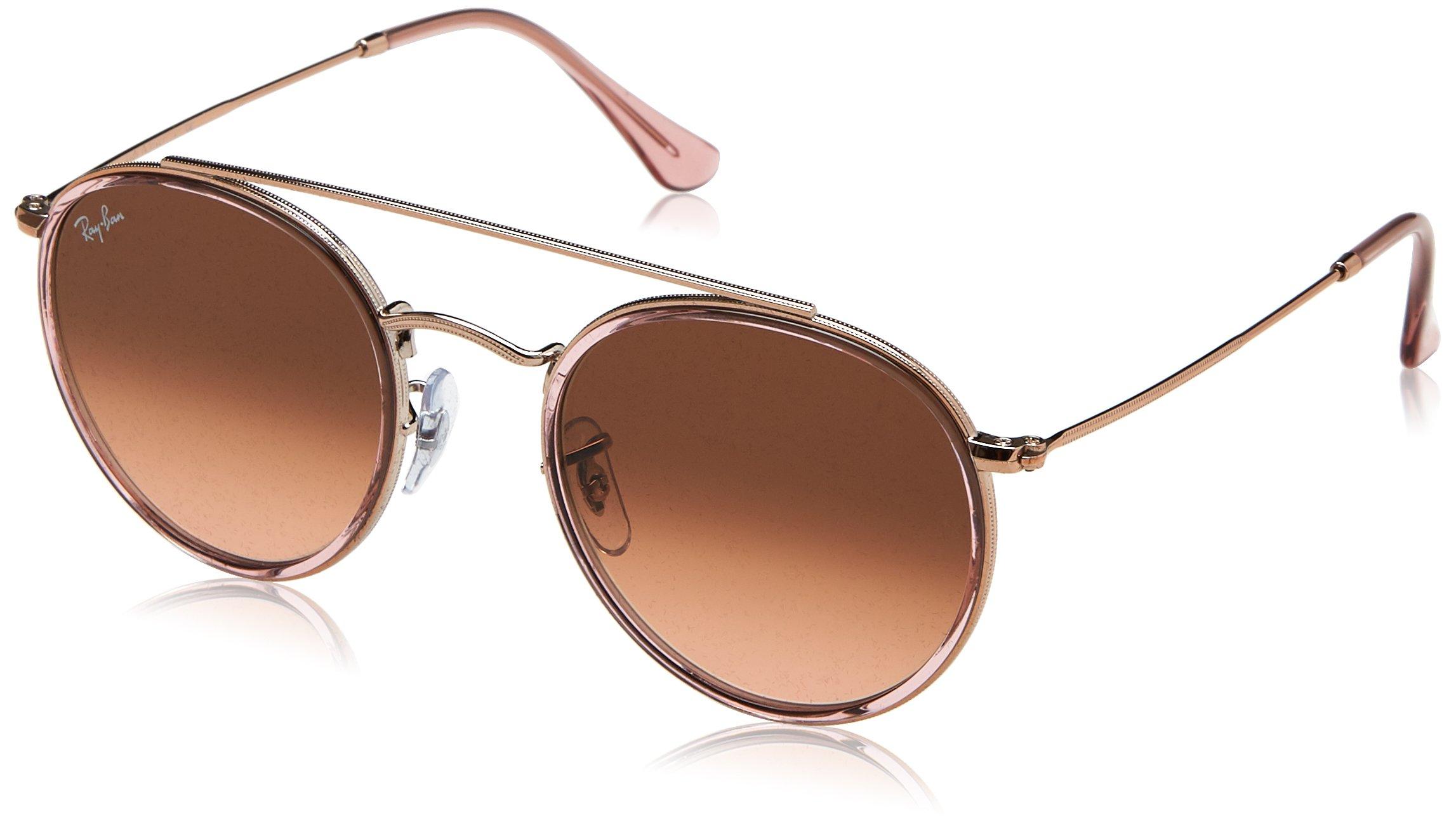 Ray-Ban Metal Unisex Aviator Sunglasses, Pink, 51 mm