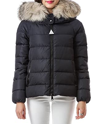 Wiberlux Moncler Chitalpa Women's Fur Trimmed Hood Zip-Up Down Jacket 1 Navy