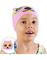 AqtivAqua Divertido Gorro de baño de Silicona para niños y niñas (de 2 a 8