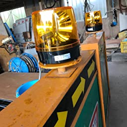 Amazon Co Jp カスタマーレビュー パトライト 大型回転灯 Kg 100 Y F186 大型2面反射鏡 黄色