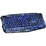 ed643f18370 Backlit Gaming Keyboard, BAVIER Laser Carving Characters Keyboard,Wired  Backlighting Keyboard,114keys Ergonomic