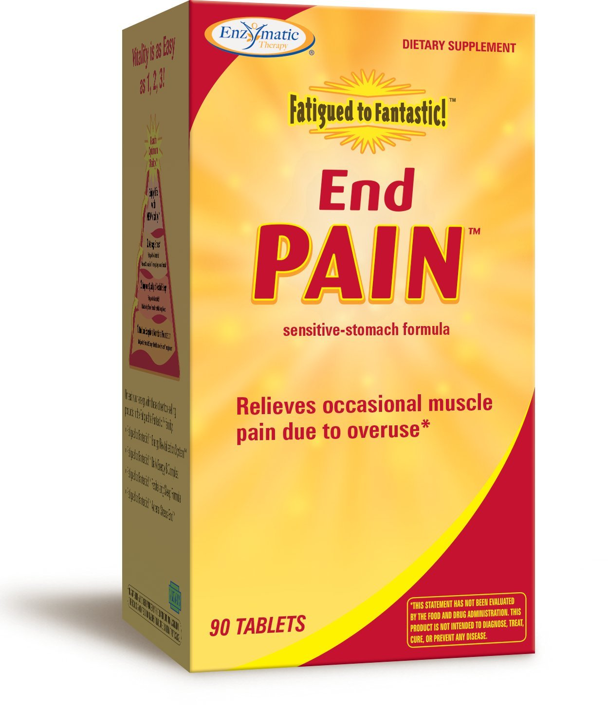 Enzymatic Therapy Fatigued to Fantastic End Pain Tablets, 90 Count