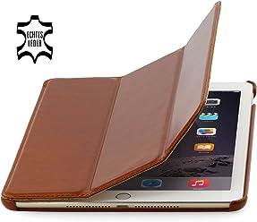 StilGut Couverture Case, custodia in pelle per Apple iPad Air 2, cognac