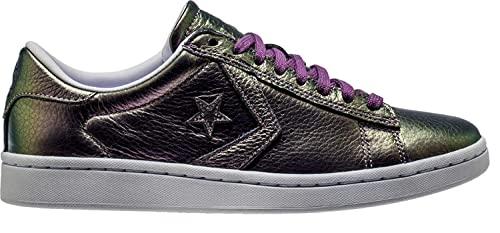 b76d881526c Image Unavailable. Image not available for. Colour  Converse Pro Leather LP  Iridescent Leather Ox Viola Fantasy White White ...