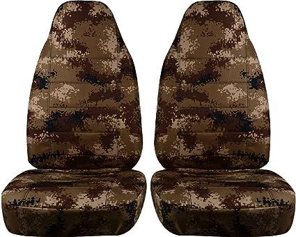 Camouflage Car Seat Covers Tan Digital Camo