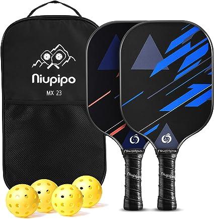 niupipo Pickleball Paddles USAPA Pro Graphite Pickleball Paddle Set