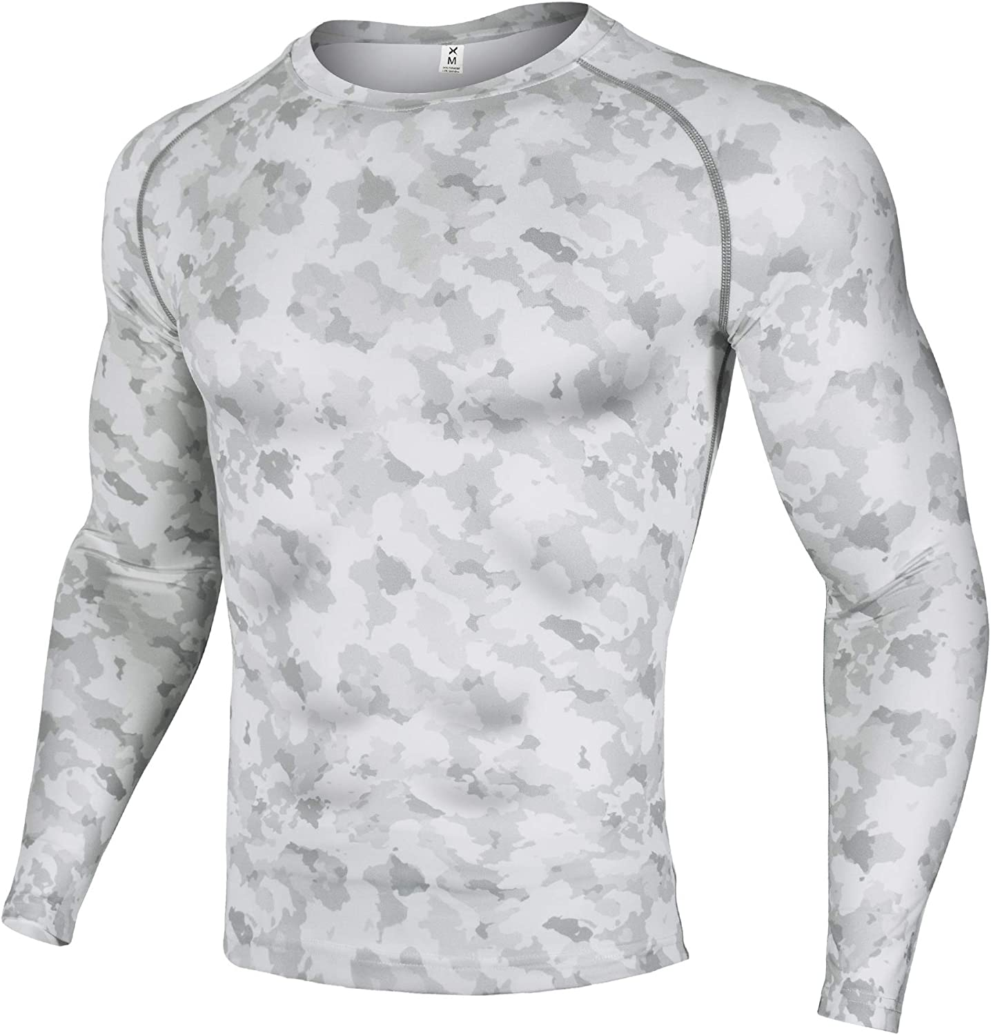 Xtextile Men's Compression Camouflage Undershirt Cool Dry Baselayer Long Sleeve Shirts