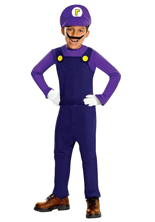 Waluigi Deluxe Toddler / Child Costume Size Medium (8/10) Toys u0026 Games  sc 1 st  Amazon.com & Amazon.com: Super Mario Bros. - Waluigi Deluxe Toddler / Child ...
