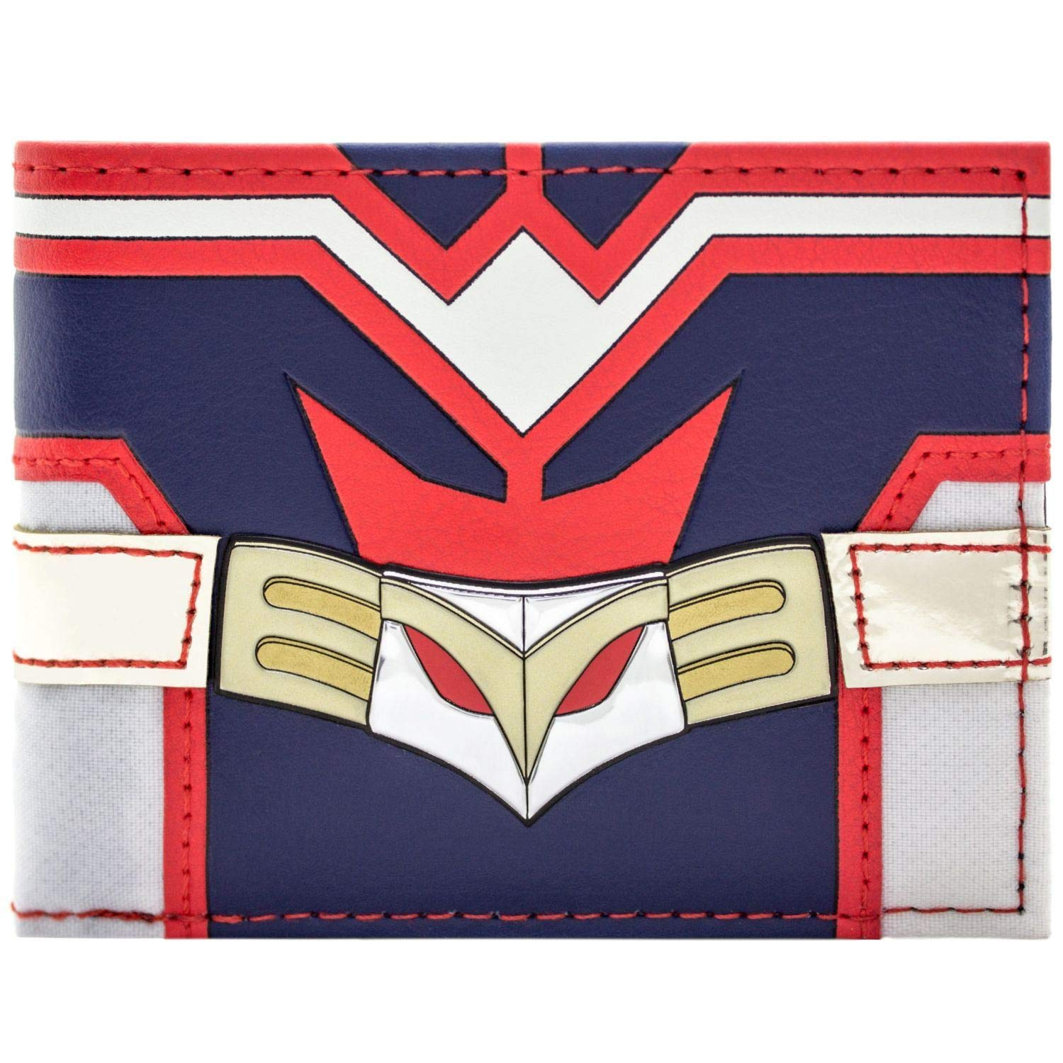 Cartera de My Hero Academia All Might Traje Rojo y Azul Negro 31440