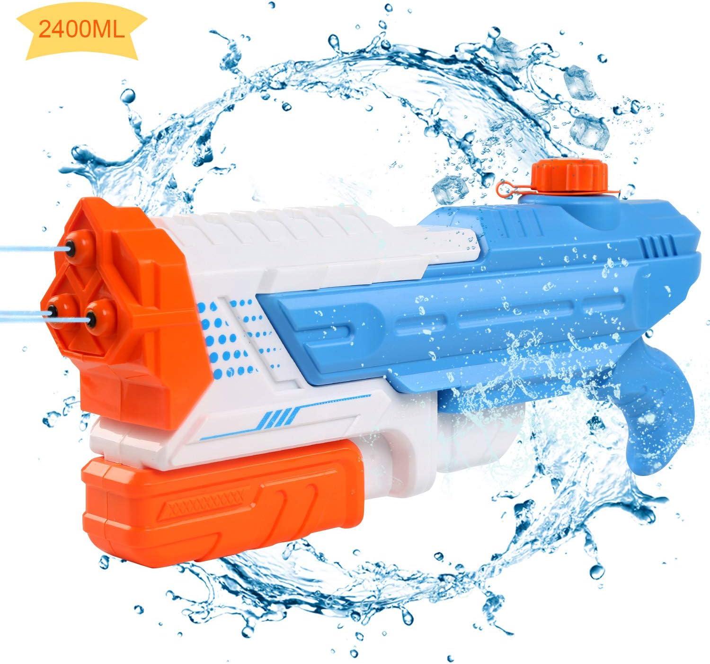 LEADSTAR Pistola de Agua, Super Gun Water, Grande 2400ml de Agua de Largo Alcance 8-10M, Juguete de los Niños, Juguetes de Verano para Playa Piscina al Aire Acuáticos Partido - Niños y Adultos