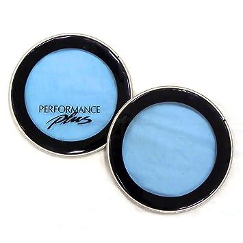 Cabezales de tambor para proyectos de arte, color azul transparente, paquete de 2,