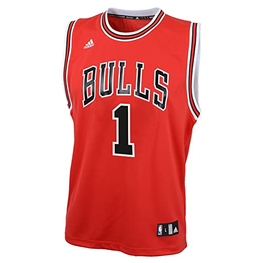 buy popular 95610 5b290 NBA Chicago Bulls Derrick Rose Replica Road Youth Jersey, Red, Small