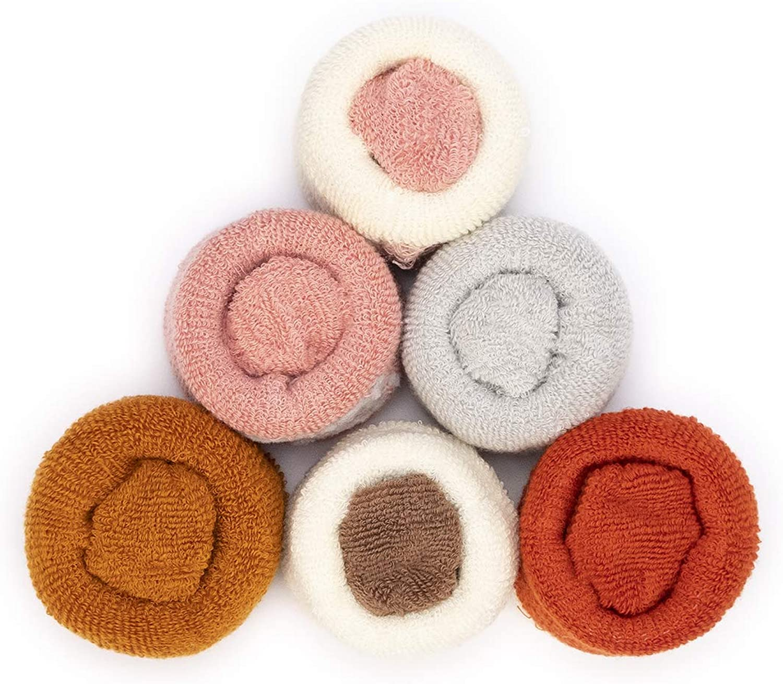 Adorel Baby M/ädchen Socken Anti-Rutsch Warm Pl/üsch 6er-Pack