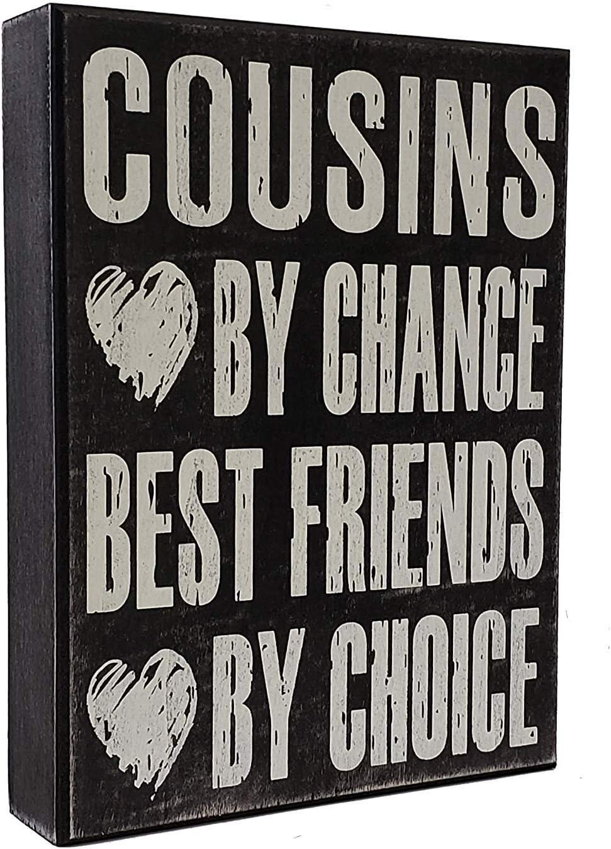 JennyGems - Cousins Chance Best Friends Choice - Funny Cousin Gift Plaque - Wall Art