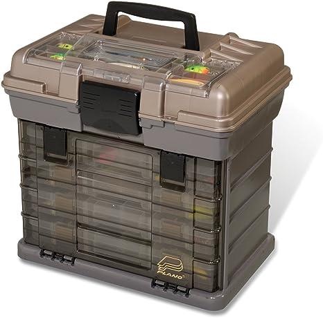Premium maletín para aparejos de pesca plano pescado organizador cajas con pequeña bandeja de 4 cajones grandes 1374 diseño: Amazon.es: Deportes y aire libre