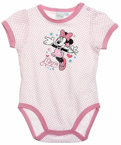 Body bébé fille manches courtes Minnie Pois blanc rose 6mois  Amazon ... 90ac1ff6d8b