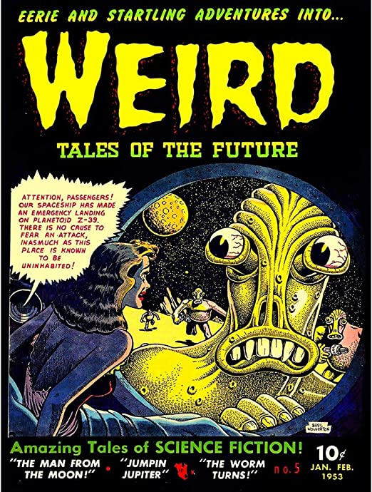 WEIRD TALES FUTURE ALIEN SCI FI FICTION Poster Comics Canvas art Prints