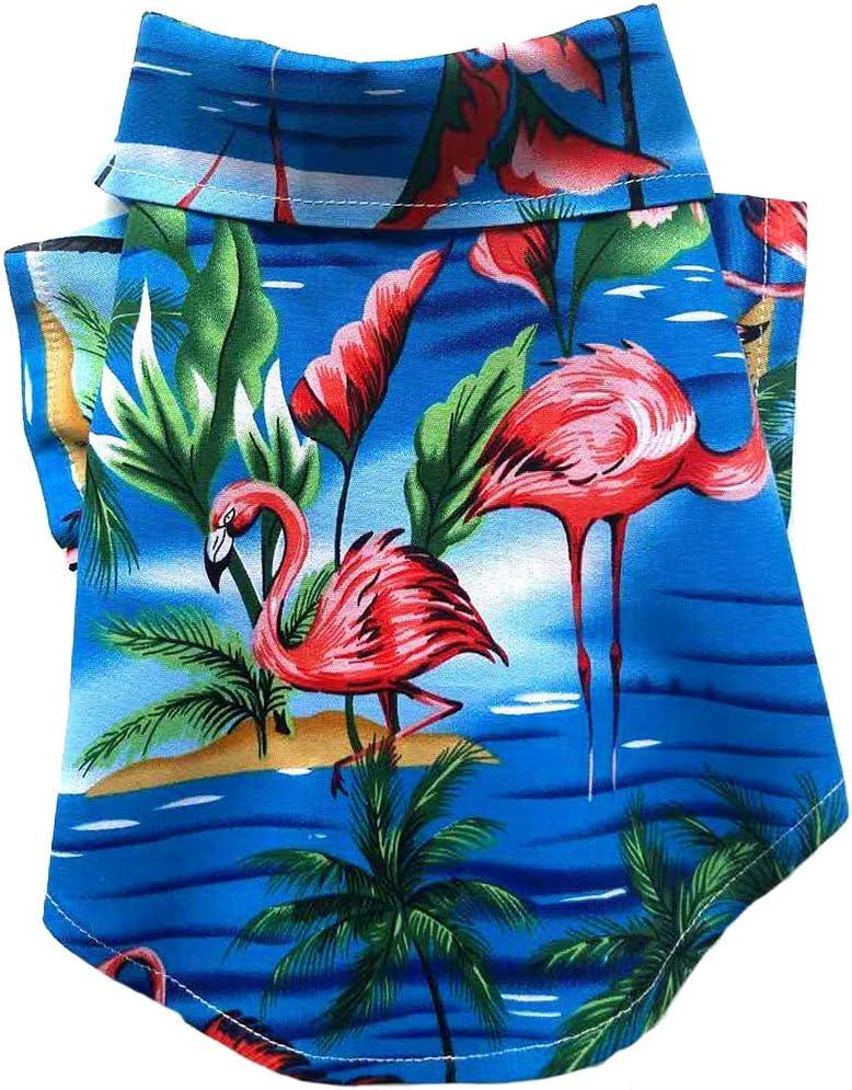 MaruPet Dog Hawaiian Shirt NewStyle Summer Beach Vest Short Sleeve Pet Clothes Dog Top Floral T-Shirt Hawaiian Tops Dog Jackets Outfits for Small Dogs Breeds Cats