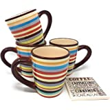 Tabletop lifestyles sedona 16 ounce mug set of 4 ceramic coffee mug coffee cups - Two and a half men coffee mug ...