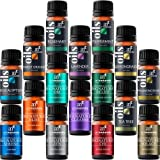 Artnaturals Pure Essential Oil and Blend Set - (16 x 10ml) - 8 Pure Oils and 8 Signature Blends