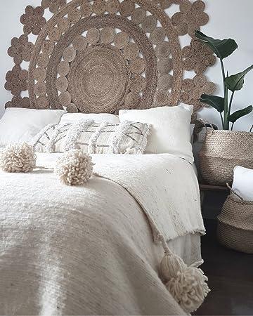 Moroccan Pompom Blanket Handmade Of Wool 300x200 Cm Boho Betten