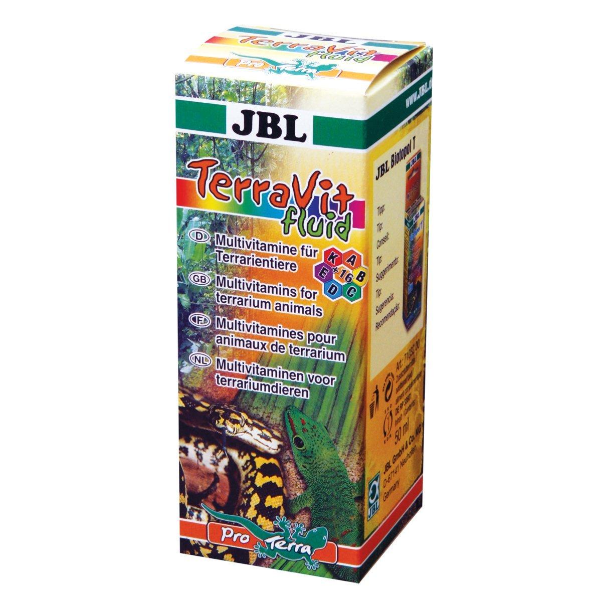 JBL Ergä nzungsfutter fü r Terrarientiere, Vitamine und Spurenelemente, TerraVit 100 ml 7102900