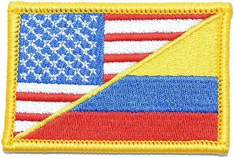 Colombia/bandera de EE. UU. – 2 x 3 moral parche – varios colores: Amazon.es: Juguetes y juegos