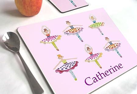 Tigerlilyprints Dancing Girls Dance Gifts Ballet Personalised Mat