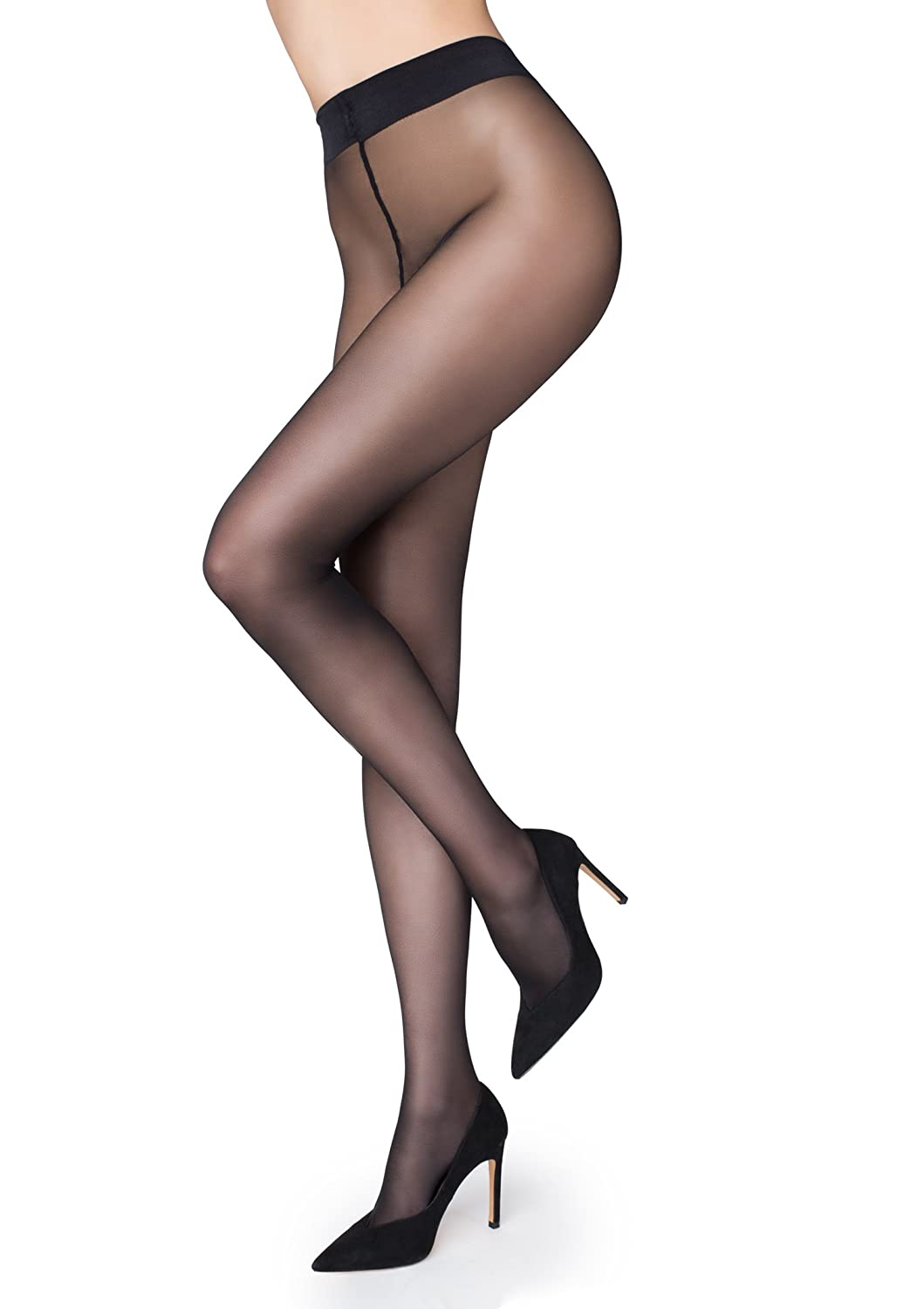 Marilyn Naked Lux Line Pantyhose 20 Denier Made in Europe at Amazon Women's  Clothing store: