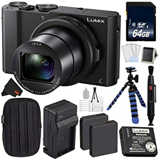 Panasonic LUMIX DMC-LX10 20.1MP Leica DC Optical Zoom Digital Camera Bundle with 64GB Memory Card + More