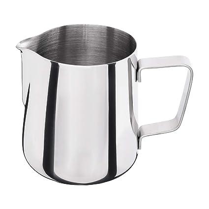 Jarra - Jarra de leche (acero inoxidable, 0,35 litros ...