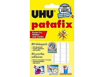 wieder abl/ösbar wei/ß UHU/® patafix Klebepads 2er Pack