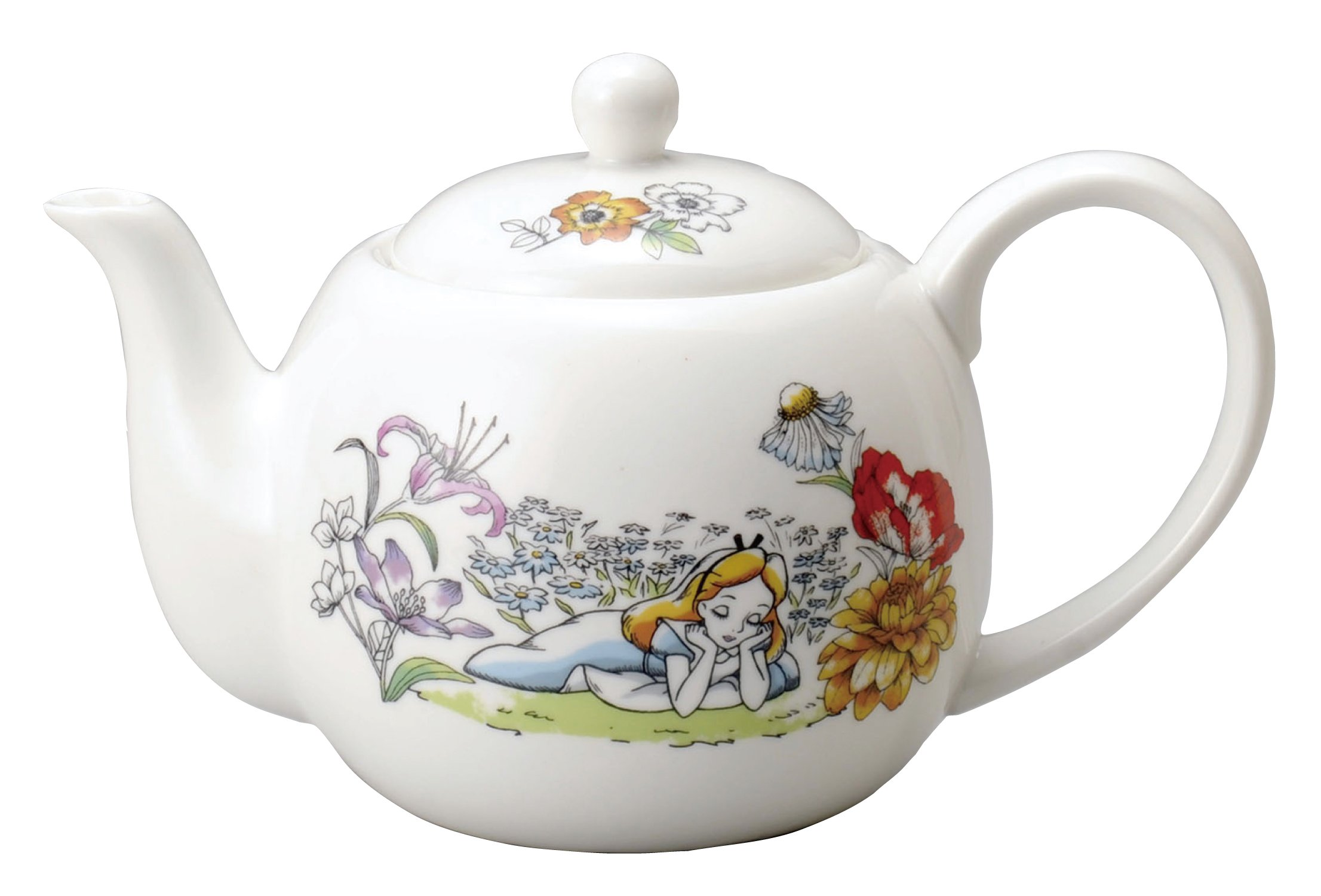 Walt Disney Alice in Wonderland Porcelain Teapot Maebata 29790(Japan import)