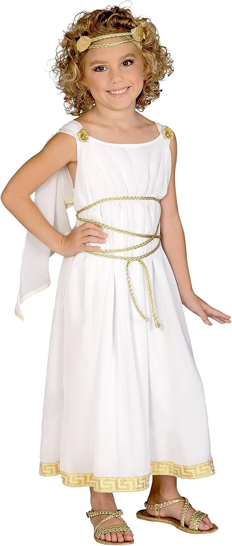 Girls Grecian Greek Goddess Costume Roman Aphrodite Athena Size Medium 8-10