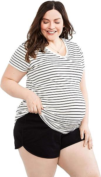 Motherhood Maternity Womens Maternity Relaxed Fit Sleep Knit Shorts