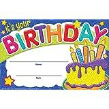 Eureka Color My World Birthday Cake Set of 36 Recognition Awards