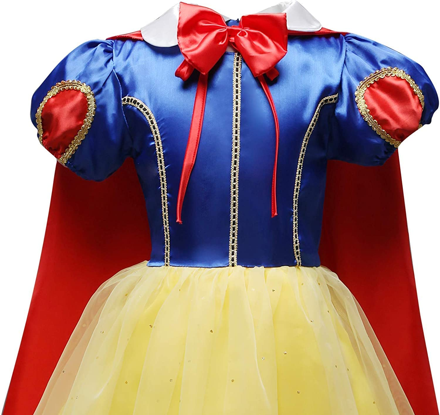 Accessories FMYFWY Girls Snow White Princess Costume Carnival Halloween Christmas Birthday Dress Dance Ball Gown w//Cloak