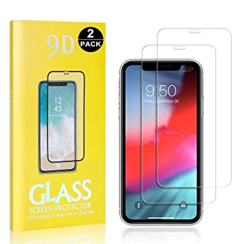 Bubble Free UNEXTATI iPhone 11 Pro Max HD-Clear Tempered Glass Film 9H Hardness Anti Shatter Anti Scratch Fingerprint Screen Protector for Apple iPhone 11 Pro Max 3-Pack