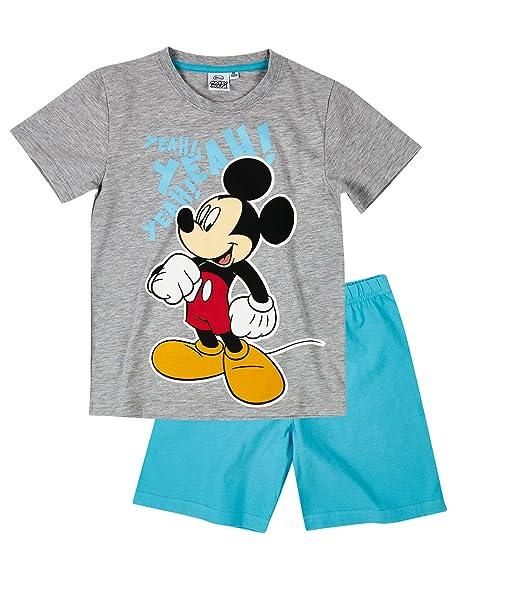 Disney Mickey Chicos Pijama mangas cortas - Gris: Amazon.es: Ropa y accesorios