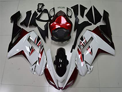New White Red Fairing Fit for Kawasaki Ninja 2007 2008 ZX6R ...
