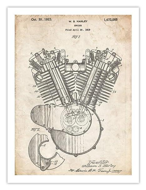 Amazon.com: Harley Davidson Motocicleta Motor invención ...