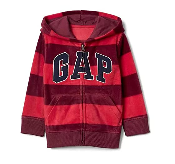 Amazon.com: Baby Gap Boy's Full Zip Pro Fleece Logo Stripe Hoodie ...