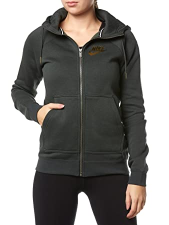 57a5fa8eca14 Nike Women s NSW Rally Fz Metallic Hoodie  Amazon.co.uk  Sports ...