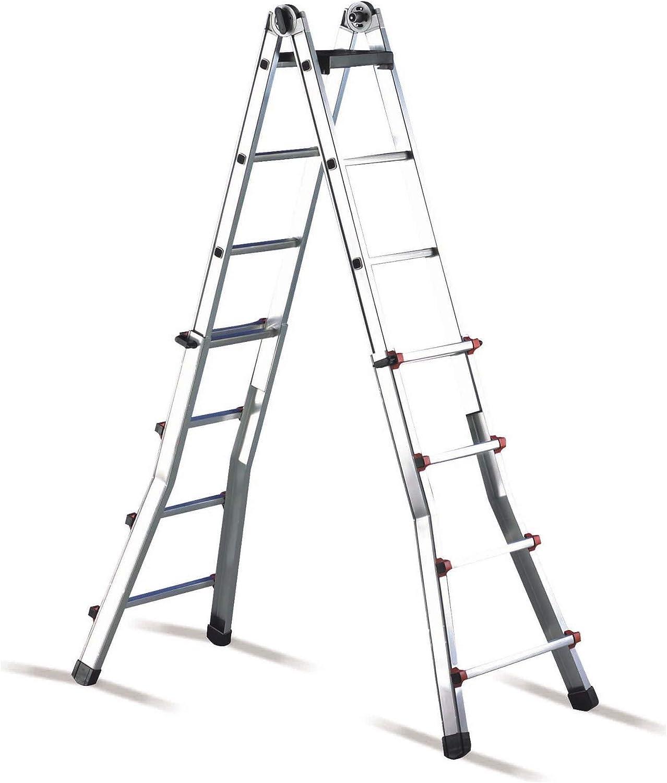 Cimco 146706 - Escalera telescopica ajustable al2x6: Amazon.es: Bricolaje y herramientas
