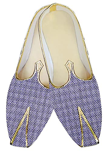 Mens Lavender Jute Wedding Shoes MJ014138