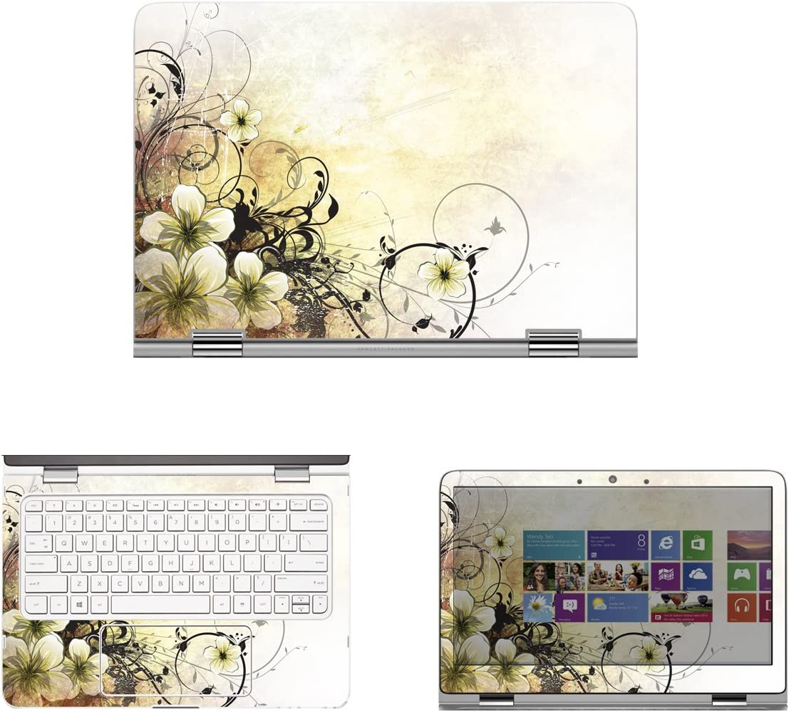 Decalrus - Protective Decal Skin Skins Sticker for 2015 HP Spectre x360 13-4003dx (13.3