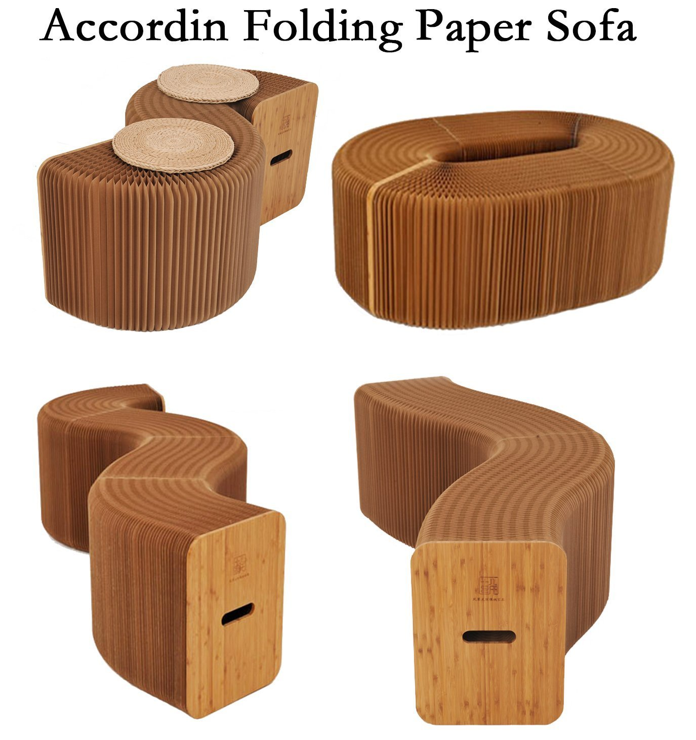 Ihpaper Fashionable 3 Softseating Kraft Paper Folding Pictures of Morden Sofa Designs